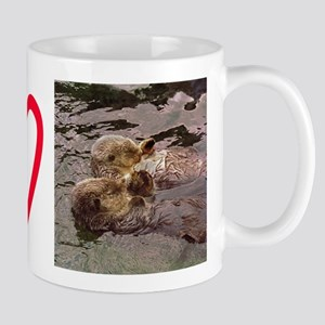 Sea Otters Holding Hands Mug